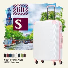 キャリーケース キャリーバッグ スーツケース 機内持ち込み Sサイズ 小型 送料無料 軽量 ファスナー ABS7352 tilt チルト かわいい