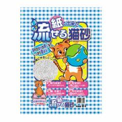 【C】ヒノキ 紙で出来た流せる猫砂 8L