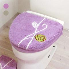 etoffe エトフ トイレカバー 蓋カバー 洗浄暖房 花柄 洗える パイル生地