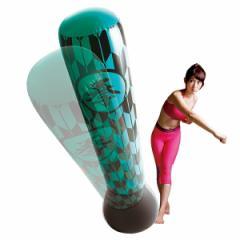 パンチバッグ ストレス解消 ボクシング サンドバッグ エアー スタンディングバッグ 運動不足解消 エクササイズ トレーニング 和柄グリー