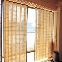 竹カーテン すだれカーテン 天然竹 竹すだれ 日よけ 日除け 大1本 200×168cm 日差し 紫外線対策 すだれ 室内 アコーディオンカーテン 孟