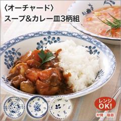 Orchard オーチャード スープ & カレー皿 3柄組 21cm 電子レンジ OK
