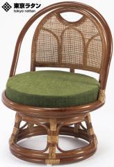 東京ラタン 天然籐 籐製 回転チェア 座椅子 ロータイプ アジアン