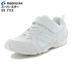 女の子向け MoonStar ムーンスター SS J753 スーパースター オールホワイト 子供靴 バネのチカラ 12281801