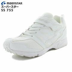 MoonStar ムーンスター SS J755 スーパースター イナズマスプリンター オールホワイト 子供靴 バネのチカラ 12281821