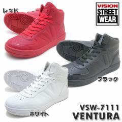 ヒップホップ ダンス ハイカット スニーカー VISION ビジョン VSW-7111 VENTURA ベンチュラ レッド、ホワイト、ブラック 軽量 9167111