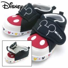 ディズニー ベビー がばっと開いて はきやすい ファーストシューズ DS0150 ミッキーマウス ブラック Pssale 95101506