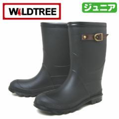WILDTREE ワイルドツリー 2015 ブラック ジュニア 子供用 女児 女の子用 男児 男の子用 レインブーツ 長靴 ラバーブーツ ジョッキー