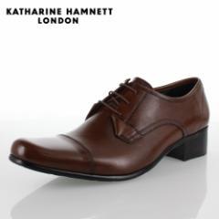 KATHARINE HAMNETT LONDON キャサリンハムネット 31441 メンズ ビジネスシューズ ブラウン