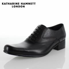 KATHARINE HAMNETT LONDON キャサリンハムネット 31442 メンズ ビジネスシューズ ブラック