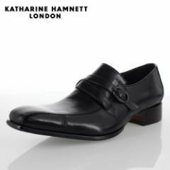 KATHARINE HAMNETT LONDON キャサリンハムネット 31501 メンズ ビジネスシューズ ブラック