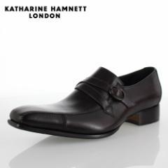 KATHARINE HAMNETT LONDON キャサリンハムネット 31501 メンズ ビジネスシューズ ダークブラウン