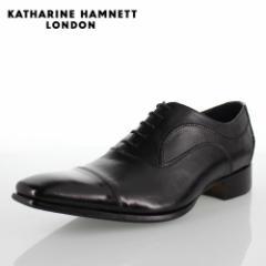 KATHARINE HAMNETT LONDON キャサリンハムネット 31504 メンズ ビジネスシューズ ブラック 黒
