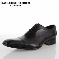KATHARINE HAMNETT LONDON キャサリンハムネット 31504 メンズ ビジネスシューズ ダークブラウン