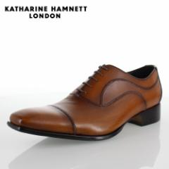 KATHARINE HAMNETT LONDON キャサリンハムネット 31504 メンズ ビジネスシューズ ブラウン