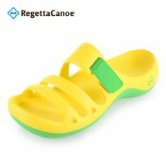 【還元祭クーポン対象】リゲッタ カヌー Regetta Canoe アクアカヌー AC101 メンズ レディース サンダル イエロー 黄 YELLOW