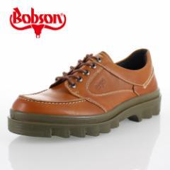 ボブソン BOBSON 4327 ブラウン メンズ ウォーキングシューズ アウトドアシューズ カジュアルシューズ 本革 3E 日本製