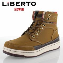 【還元祭クーポン対象】リベルトエドウィン LIBERTO EDWIN L60246 イエロー メンズ ブーツハイカットスニーカー 防水設計
