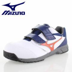 ミズノ MIZUNO オールマイティLS C1GA1701 01 ホワイト ワーキング スニーカー 安全靴 セーフティーシューズ 作業靴 メンズ 3E