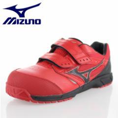 【還元祭クーポン対象】ミズノ MIZUNO オールマイティLS C1GA1701 62 レッド ワーキング スニーカー 安全靴 セーフティーシューズ 作業靴