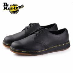 【還元祭クーポン対象】ドクターマーチン Dr.Martens 靴 21859001 CAVENDISH 21859 BLACK 3ホール レザー 黒 ブラック レディース メンズ