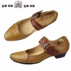 【還元祭クーポン対象】cavacava サヴァサヴァ 靴 3720103 カジュアル ワンストラップ パンプス ローヒール バブーシュ 日本製 ブラウン