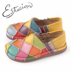 エスタシオン 靴 estacion TG025 (MT) 本革 厚底 スリッポン カジュアルシューズ コンフォートシューズ レディース マルチカラー パッ