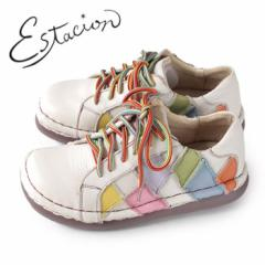 エスタシオン 靴 estacion TG155 (IV/MT) 本革 厚底 カジュアルシューズ コンフォートシューズ レディース 紐靴 レースアップシューズ