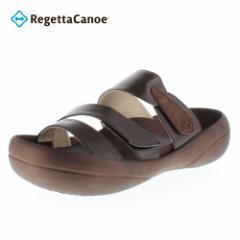 【還元祭クーポン対象】Regetta Canoe CJLF2113 リゲッタカヌー Light foot サンダル メンズ ダークブラウン