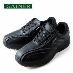 GAINER ゲイナー GN003 ブラック メンズ スニーカー ウォーキング コンフォートシューズ 4E