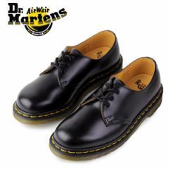 【還元祭クーポン対象】ドクターマーチン Dr.Martens 1461 3EYE GIBSON SHOE BLACK SMOOTH 10085001 3ホール レディース メンズ