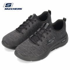 スケッチャーズ レディース スニーカー GO WALK ARCH FIT-MOON SHADOWS 124485-BBK ブラック SKECHERS 靴