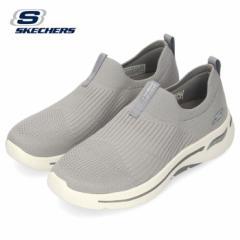 スケッチャーズ スリッポン レディース スニーカー GO WALK ARCH FIT-ICONIC 124409-GRY グレー SKECHERS 靴