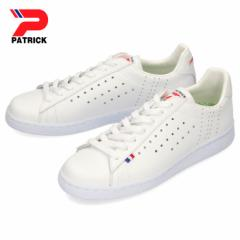 【BIGSALEクーポン対象】 パトリック ケベック PATRICK QUEBEC WHT 119630 ホワイト レディース メンズ スニーカー レザー  パンチング