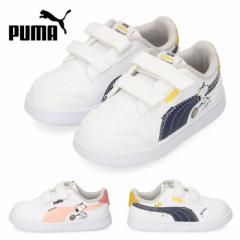 【BIGSALEクーポン対象】 プーマ puma PEANUTS Shuffle V Inf スヌーピー 375741-01 02 キッズ ベビー スニーカー ネイビー ブラック ピ