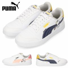 【BIGSALEクーポン対象】 PUMA プーマ PEANUTS Puma Shuffle Jr 375739-01 02 キッズ ジュニア スニーカー スヌーピー ネイビー ブラック