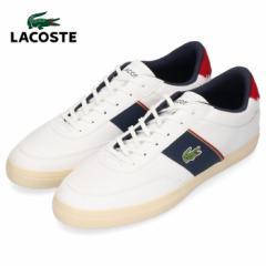 ラコステ メンズ スニーカー LACOSTE COURT MASTER 319 6 CMA0066-407 WHT/NVY/RED ホワイト 靴