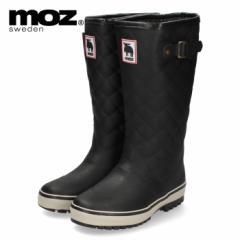 moz モズ MZ-9102 長靴 レインブーツ 黒 ブラック 軽量 防寒 防滑 スウェーデン 北欧