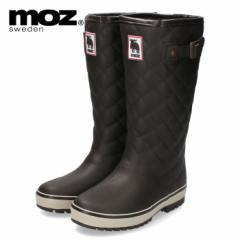 moz モズ MZ-9102 長靴 レインブーツ ダークブラウン 軽量 防寒 防滑 スウェーデン 北欧