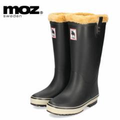 MOZ モズ MZ-9009 冬 雪 軽量 防滑 完全防水 北欧 スウェーデン 女性 レディース 雨 レイン 長靴 ブーツ 黒 ブラック ヘラジカ ボア