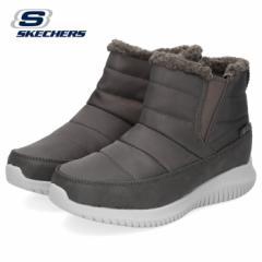 スケッチャーズ レディース ショートブーツ Skechers ULTRA FLEX-SHAWTY 44998-CCL チャコール 防滑 保温 撥水