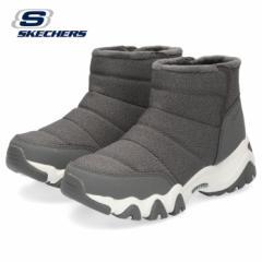 スケッチャーズ レディース ショートブーツ Skechers DLites 2.0-Chasing mountains 48595-CCL チャコール 耐滑 保温