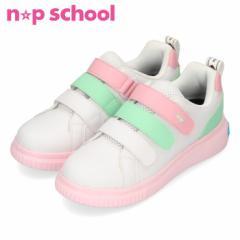 【BIGSALEクーポン対象】 ニコ☆プチスクール np school NPS 0020  白/ピンク 子供靴
