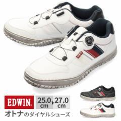 【還元祭クーポン対象】スニーカー メンズ エドウィン EDWIN EDW-7832 ダイヤル スリッポン カジュアル 防滑 滑りにくい 軽量 ローカット