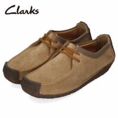 クラークス Clarks メンズ ナタリー Natalie 171J オークウッドスエード ブラウン カジュアル シューズ 革