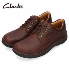【還元祭クーポン対象】クラークス Clarks メンズ ネイチャースリー Nature Three 151J ダークブラウン マホガニーレザー 革 レースアッ