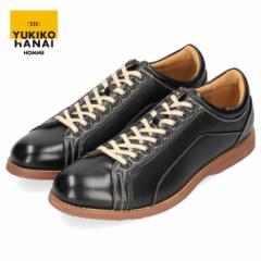 YUKIKO HANAI ユキコ ハナイ カジュアルシューズ メンズ YH4303 レースアップ シューズ クラシカル 紳士靴 軽量 黒 ブラック
