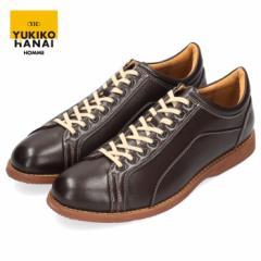 YUKIKO HANAI ユキコ ハナイ カジュアルシューズ メンズ YH4303 レースアップ シューズ クラシカル 紳士靴 軽量 茶色 ブラウン