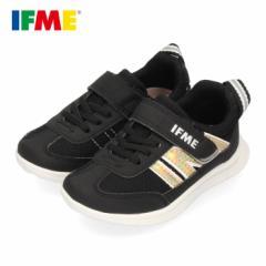 スニーカー イフミー キッズ IFME Light シューズ 22-0109 BLACK ブラック 子供靴 ベルクロ 軽量