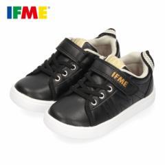 スニーカー イフミー キッズ IFME SAESON TREND シューズ 22-0110 BLACK ブラック ジュニア 子供靴 ベルクロ 軽量